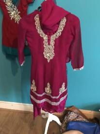 Girls clothes bundle Asian dresses and 2 pairs of Zara jeans 4/5/6 years