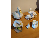 Duck and Swan Ornaments