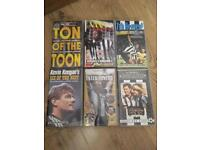 Job Lot of 6 Newcastle United Football Club Tapes VHS Videos