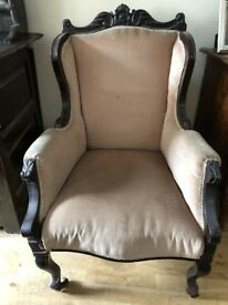 Two beautiful matching antique chairs