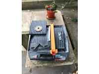 Diamond edge electric tile cutter all guides spare wheel