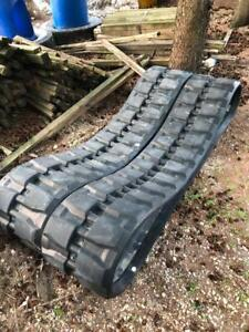 Set of Rubber Tracks 450 x 56 x 86 Caterpillar P/N 372-5791 like brand new