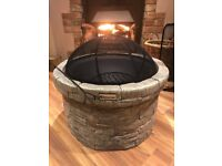 Brand New Round Wood Burning Firepit BBQ \\\\\\stove *****RRP £200.00*****