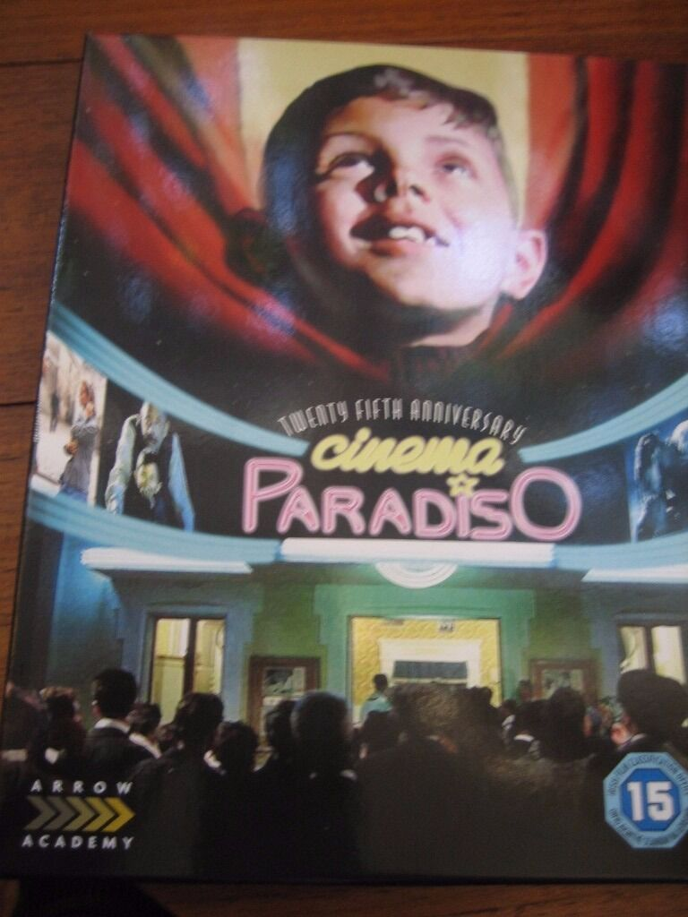 "Cinema Paradiso (2 x bluray) 25th editionas newin Scunthorpe, LincolnshireGumtree - Classic award winning Italien Movie "" Cinema Paradiso "" in two editions on Bluray. Directors original Cut 172 mins plus Theatrical ediion and lots of documentries. Only one disc ever played"