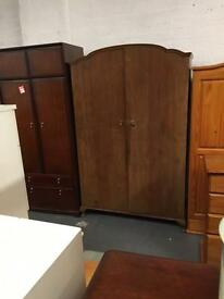 ** LARGE VINTAGE WARDROBE WITH QUEEN ANNE LEGS **