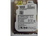 Western Digital 500GB WD5000BUCT AV 2.5inch Internal Sata Laptop Hard Drive