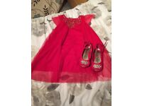 Girls party dress & shoes