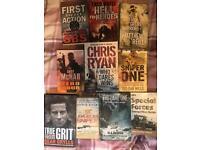 17 books, sir Alex, bear grylls, nelson Mandela, Andy mcnab and more