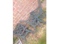 Cast iron bench legs 12 bolts