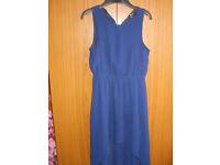 New Look Navy Blue Dip Hem Dress