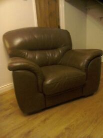 Two leather armchairs
