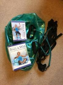 Ball & web exercise workout
