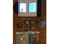 Nintendo DS Lite with case, charger and games