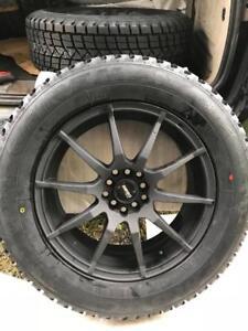4 pneus dhiver 226/65/17 neufs montes sur mags neufs 5x114.3 neufs