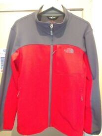North Face Jacket in Grey and Red Size Medium Mint Condition