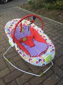 Baby bouncer chair.