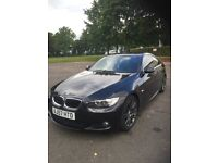 57 plate Bmw 320d m sport low miles top spec , triple black with red leather , auto