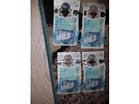 Four five pounds notes 2 with errors