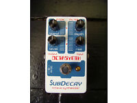 Subdecay Octasynth analogue synthesiser guitar pedal, excellent condition, synthesizer