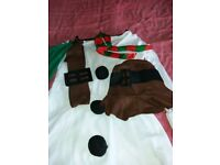 Woman's snowman costume size 14