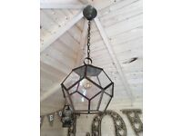 Beautiful, vintage glass light fitting - Unusual and quality item