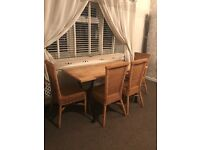 Wooden vintage dinning table