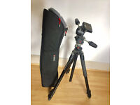 Manfrotto 190xprob with 808RC4 head