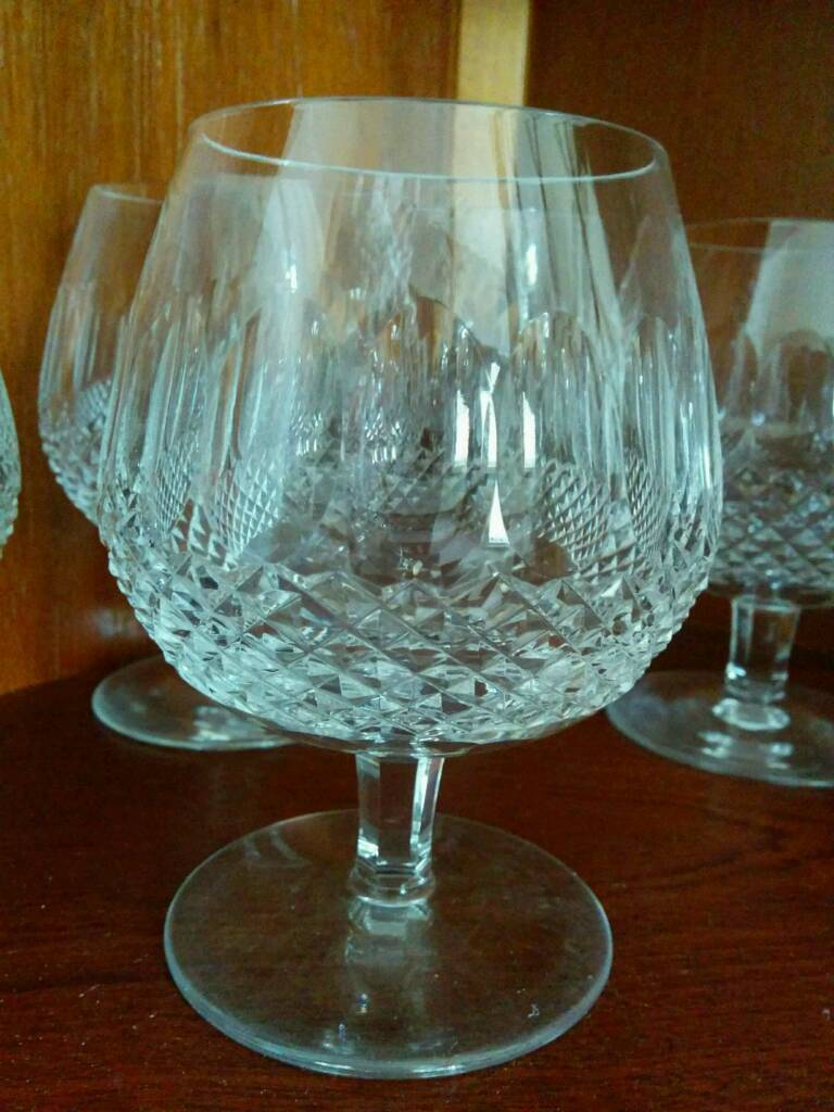 2 lovely Waterford Crystal brandy glasses
