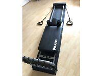 AeroPilates machine. Pilates reformer, exercise, stretching