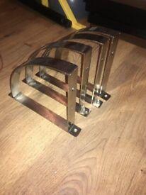 Modern silver Shelf brackets x 4