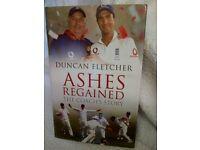 Books football Aston Villa 1995 & cricket books, Duncan Fletcher 'Ashes', 'A Cricketer's View'