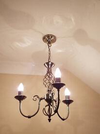 Triple armed chandeliers