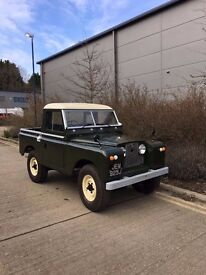 land rover series 2 galvanized chassis, tax exempt. 2.5 petrol
