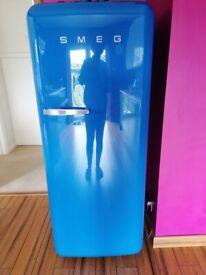 Blue Smeg fridge/freezer