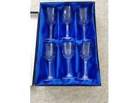 Italian lead crystal wine glasses x6