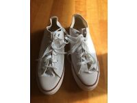 NEW White CONVERSE, size 8.5, £15