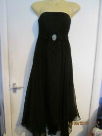 BEAUTIFUL FLOWING BLACK MONSOON DRESS SIZE 12 PARTY / PROM OR WEDDING