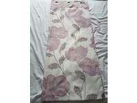 White, Mauve/Purple & Silver Curtains