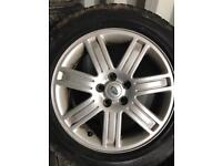"Set of Range Rover vogue 19"" alloys tyres T5 vw discovery"