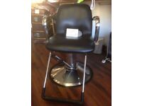 Barber/Hairdresser Chair - hardly used & in great condition - Black Leather