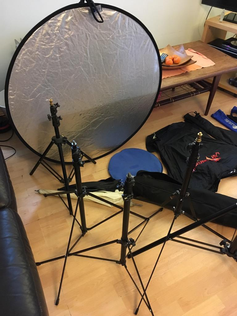 Photographic studio equipment.