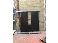 Black solid granite worktops