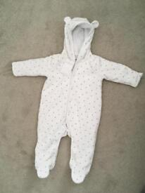 New pram suit 6-9 months Little white company