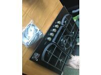 AEG glass 5 burner Hob