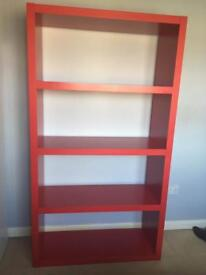 Ikea Red Lack Shelf Unit in good condition