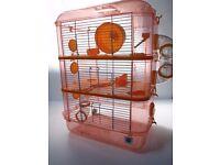 Large Hamster Cage - Fantazia Orange RRP £34.99
