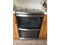 AEG Model 49002V-mn Stand alone cooker. Four ceramic hobs, double oven with grill.