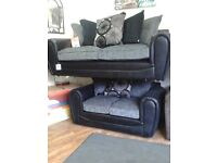 Black & Grey Suite (3seater & 2 seater sofa) £375.