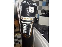 punch bag withwall mounting bracket