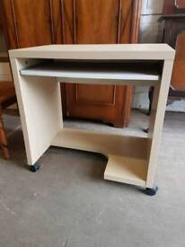Modern compact computer desk